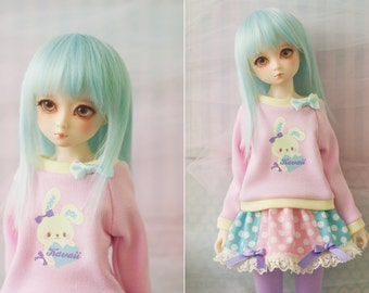 Slim MSD Minifee or SD BJD Sweater - Yellow Bunny