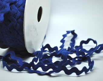 ROYAL BLUE 5 yards ric rac - 1/2 inch - trim - party favor - scrapbooking - gift wrap - cardmaking