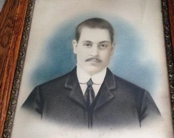 Crazy Price Alert-- Antique Victorian Gentleman Framed Portrait