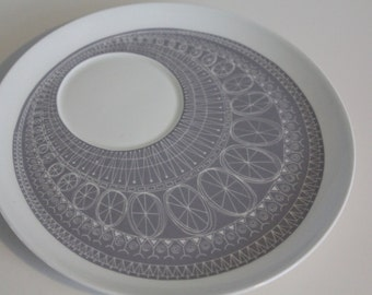 "Stunning ""Katie"" pattern breakfast set replacement plate,  by  Arabia Finland"