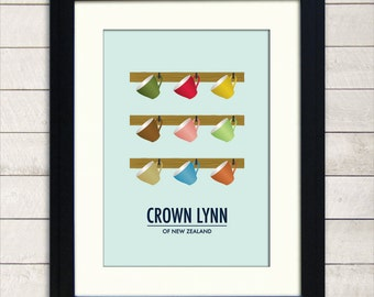 Crown Lynn Of New Zealand Poster A3, Art For Kitchen