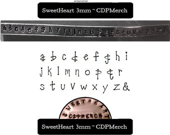 Sweetheart Exclusive Design Lowercase Letter Metal Stamps Set Steel Hand Punches Jewelry for blanks