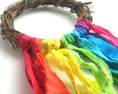 "CUSTOM ORDER for Dell Barse Rustic Rainbow ~ 22""-25"" Wreath ~ Home Decor ~ Pride"