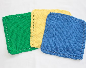 Free Knit Dishcloth Patterns | Designs by Emily