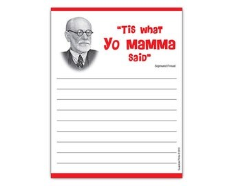 Funny Notepad Sigmund Freud 'Tis What Yo Mamma Said