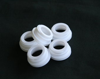 Black or White Collar Rings, Threaded, 108 pieces, for use with 28/400 Soap Dispenser Pump Head - Used with Mason Jar Soap Dispensers