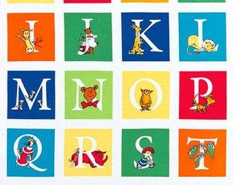 Dr. Seuss ABC Blocks in Adventure by Dr. Seuss Enterprises for Robert Kaufman by the Panel
