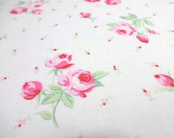 Japanese Fabric LECIEN Flower Sugar White FQ