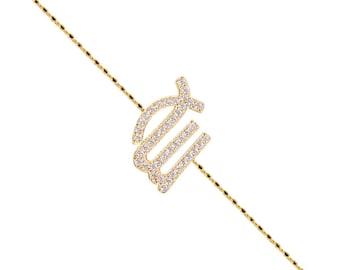 Pave Virgo Bracelet-Yellow Gold