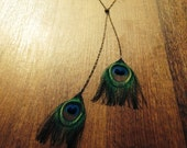 Versatile Peacock Feather Necklace