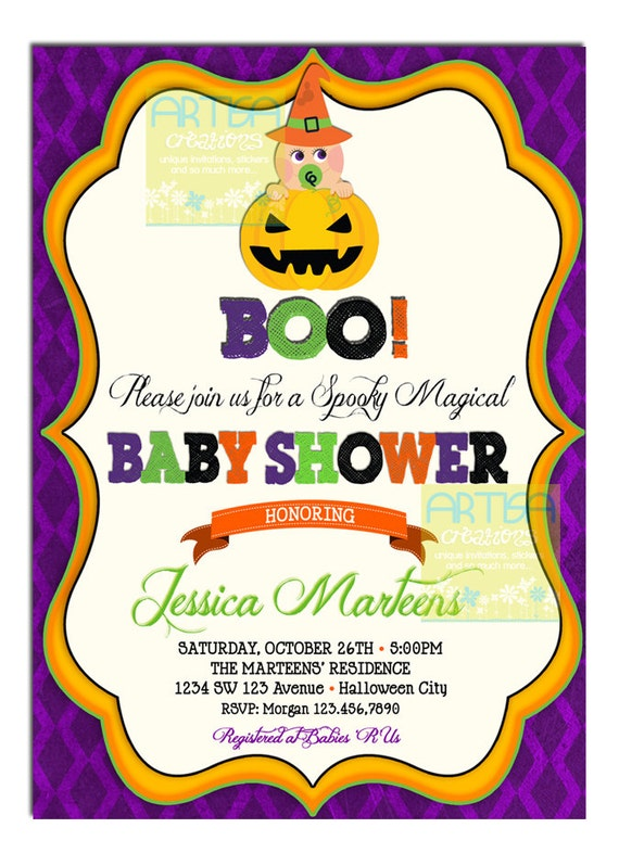 to halloween baby shower invitation baby shower halloween invitation