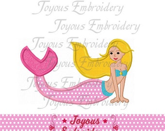 Instant Download Mermaid  Applique Machine Embroidery Design NO:1154