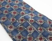 Vintage Halston Tie Italian Silk Mens Fashion Accessories