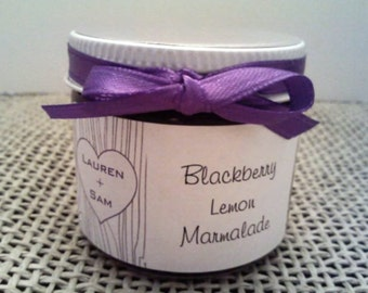 PURPLE-SILVER wedding jam favors/ 2 Oz // 50 party favors/ Save The Date/ Rehearsal Dinner/ Bridal Shower
