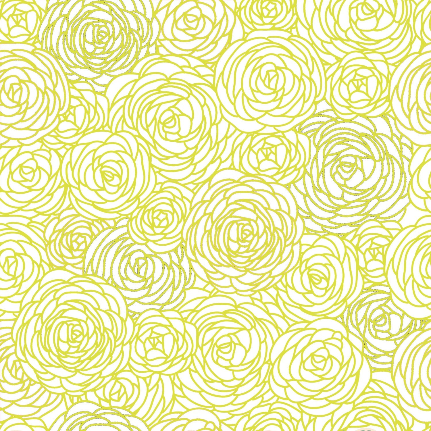 Removable Wallpaper Blossom Print Citron By GailWrightatHome