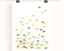 Instant download - Triangle geometric print - abstract poster - home wall art - nursery print - home decor - nursery art - JPEG - PDF