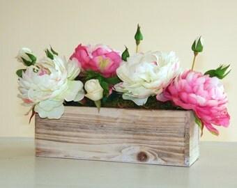 wood boxes, wood box, rectangular, weddings, flowers, centerpieces, planter box rustic pot vases wooden boxes rustic chic wedding garden par