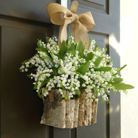 Spring Wreaths White Lily Of The Valley Vases Front By Aniamelisa