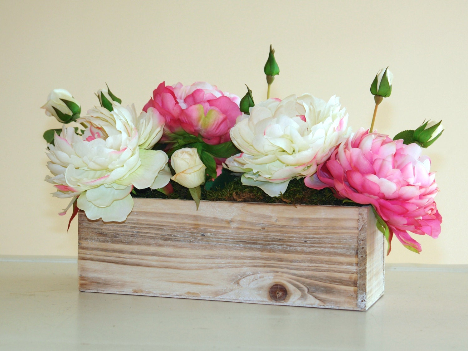 wood boxes wood box rectangular weddings flowers