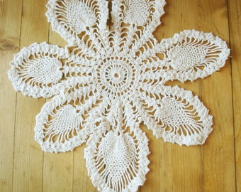 SNOWFLAKE - A Crocheted Doily That Can Be Used as Snowflakes - For the Home - Vintage - No. 11