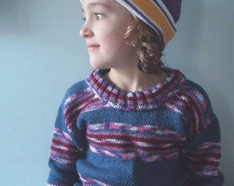 Knitted Childs Jumper Sweater Handmade Nordic boy sweater boy jumper