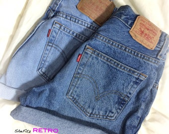 Rolled Up Cuffed Vintage Levis