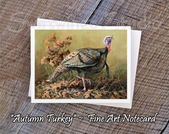Wildlife Note Cards - Bird Note Cards - Turkey Note Cards - Tom Turkey Prints - Wild Bird Prints - Wildlife Stationary