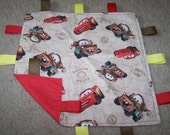 Cars Ribbon Teething Blanket