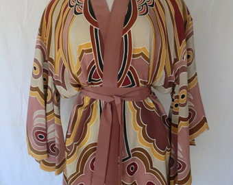 Hand Painted Silk Butterfly Kimono Free Shipping !!!.**