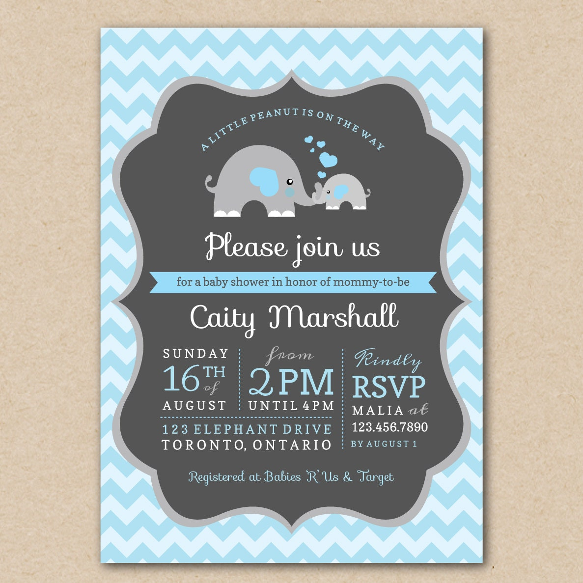 baby shower invitation a little peanut is by bellasboutiquedesign
