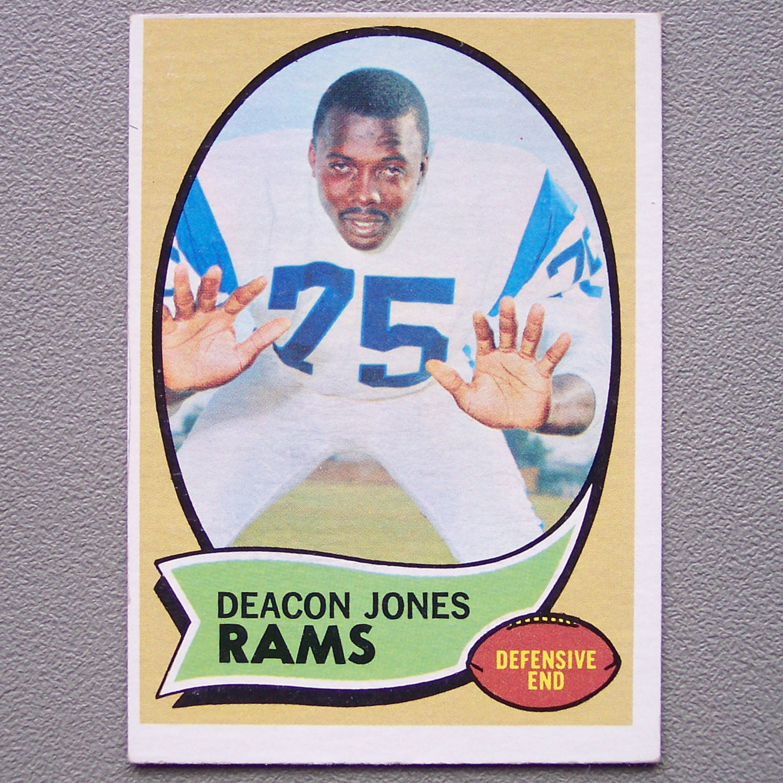 Vintage 1970 Topps Deacon Jones Football Card By