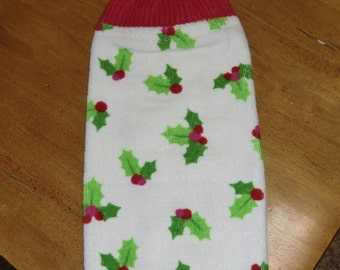 Christmas - Lots of Holly Knit Top Kitchen Towels