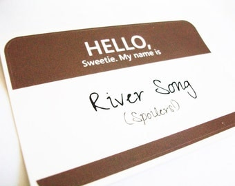 River Song Name Tag Sticker
