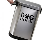Dog Food Storage Bowl Container Vinyl Sticker Wall Decal
