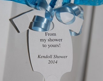 "From My Shower To Yours Gift Tags ~ Baby Onesie Gift Tags ~ Baby Shower Tags ~ 10 tags ~ 2 1/2"" ~ Multiple Colors to Choose From"