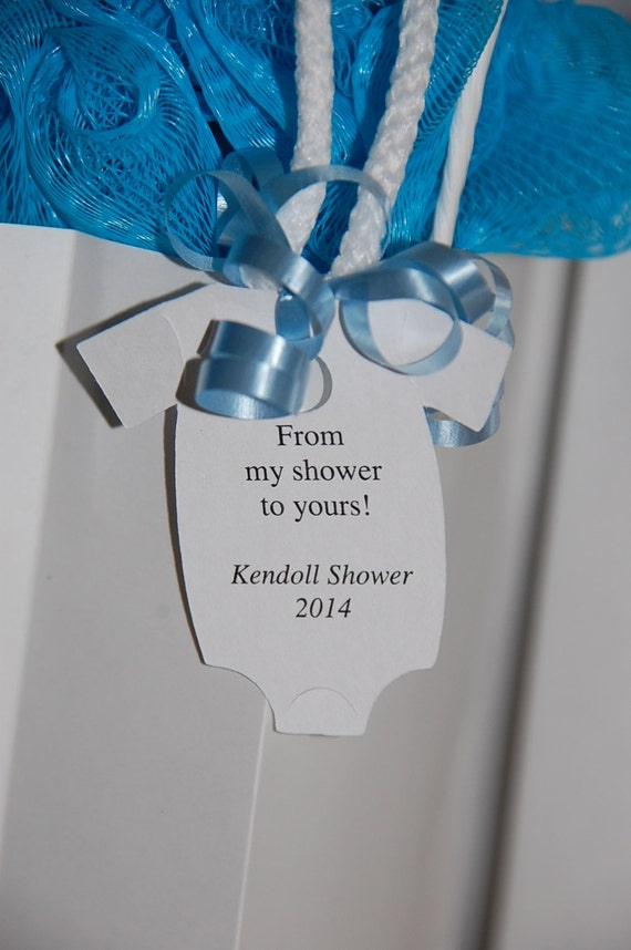 From my shower to yours gift tags baby onesie gift tags for Shower favor tag