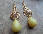 Olive jade drops.
