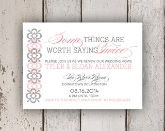 Some Things are Worth Saying Twice Invitation (renewal of vows)