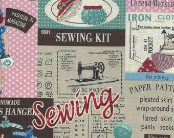 Patchwork Sewing Color B  from the Live Life Collection for  Yuwa of Japan