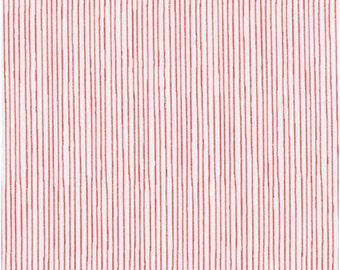 Pencil Stripe in Red from Stof of Denmark