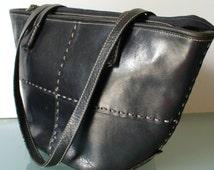 Made in Italy Ellepi Patchwork Leather Shoulderbag Tote