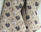 Linen Cotton Dish Towels Tea Towels Ewe Lambs Wool Tea Towels set of 2