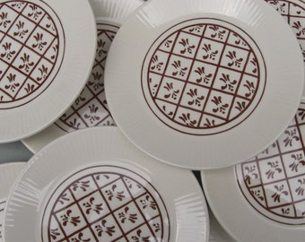 Homer Laughlin Sheffield China Company Scandia Pattern - Bread and Butter Plates - Set of 4