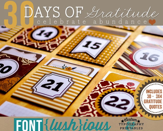 DIY Printable Thanksgiving Advent Calendar