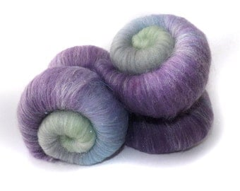 Gradient sparkle spinning batts - 100g - 3.5oz - merino - firestar  - WHISPER