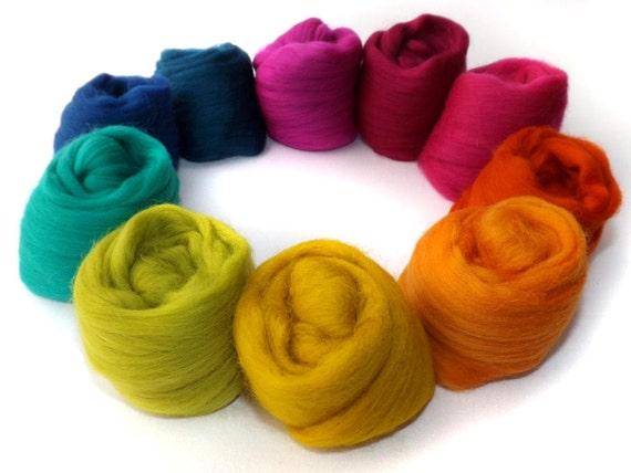 Merino Wool - Spinning - Felting - 21 Micron - Selection Pack - 100g - 3.5oz - MARRAKESH