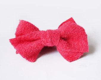 SALE 50% OFF Pink Hair Bows Banana Comb Clip Barrette