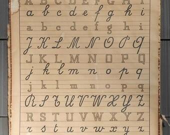 Vintage Letter School Chart