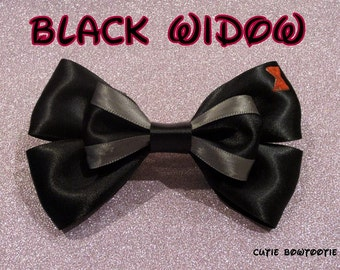 Black Widow Hair Bow The Avengers Marvel Disney Inspired