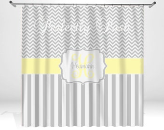 Chevron Personalized Custom Shower Curtain Monogram with Name or Initials perfect for any bathroom